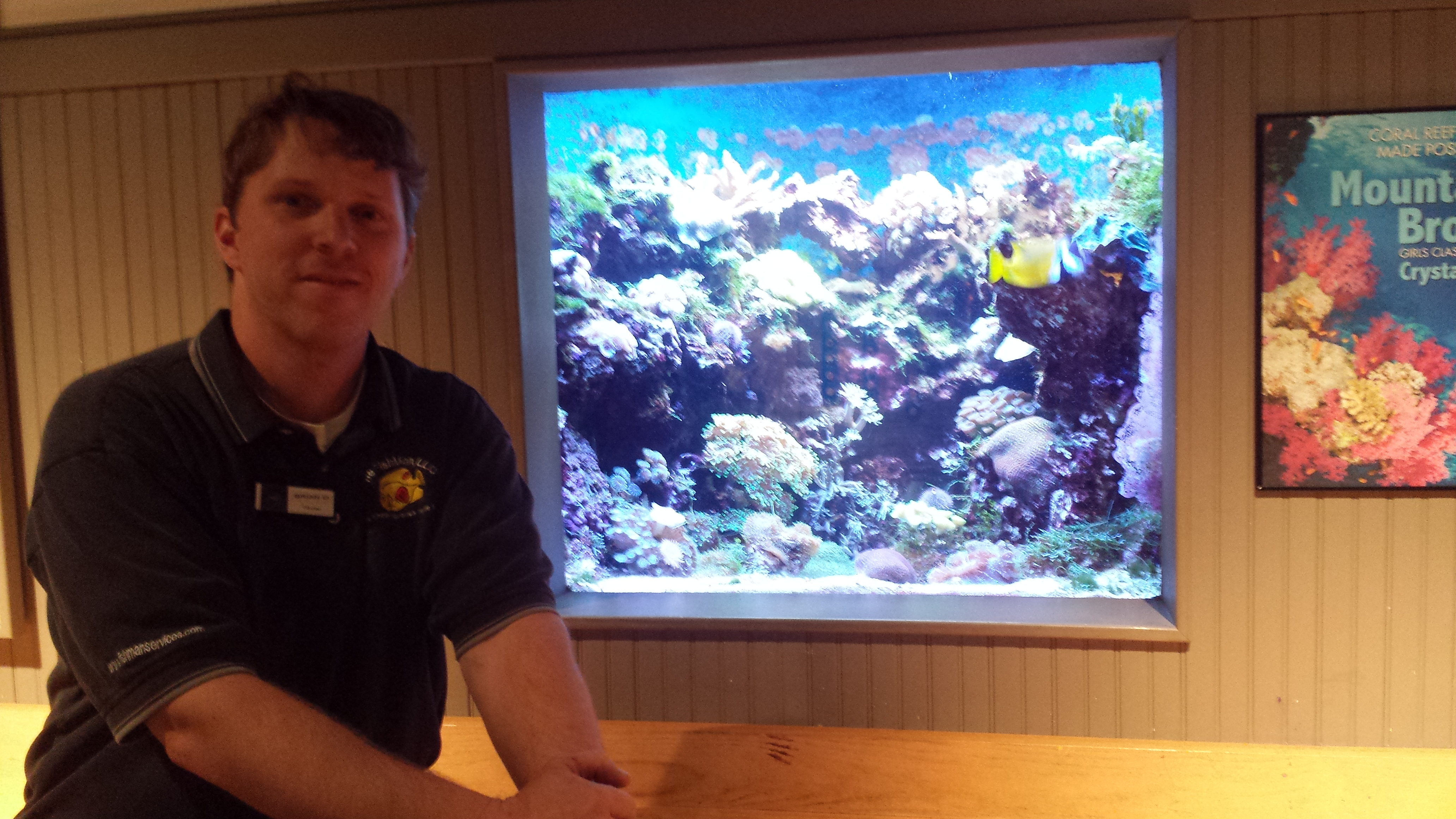 Brian and 250 reef tank